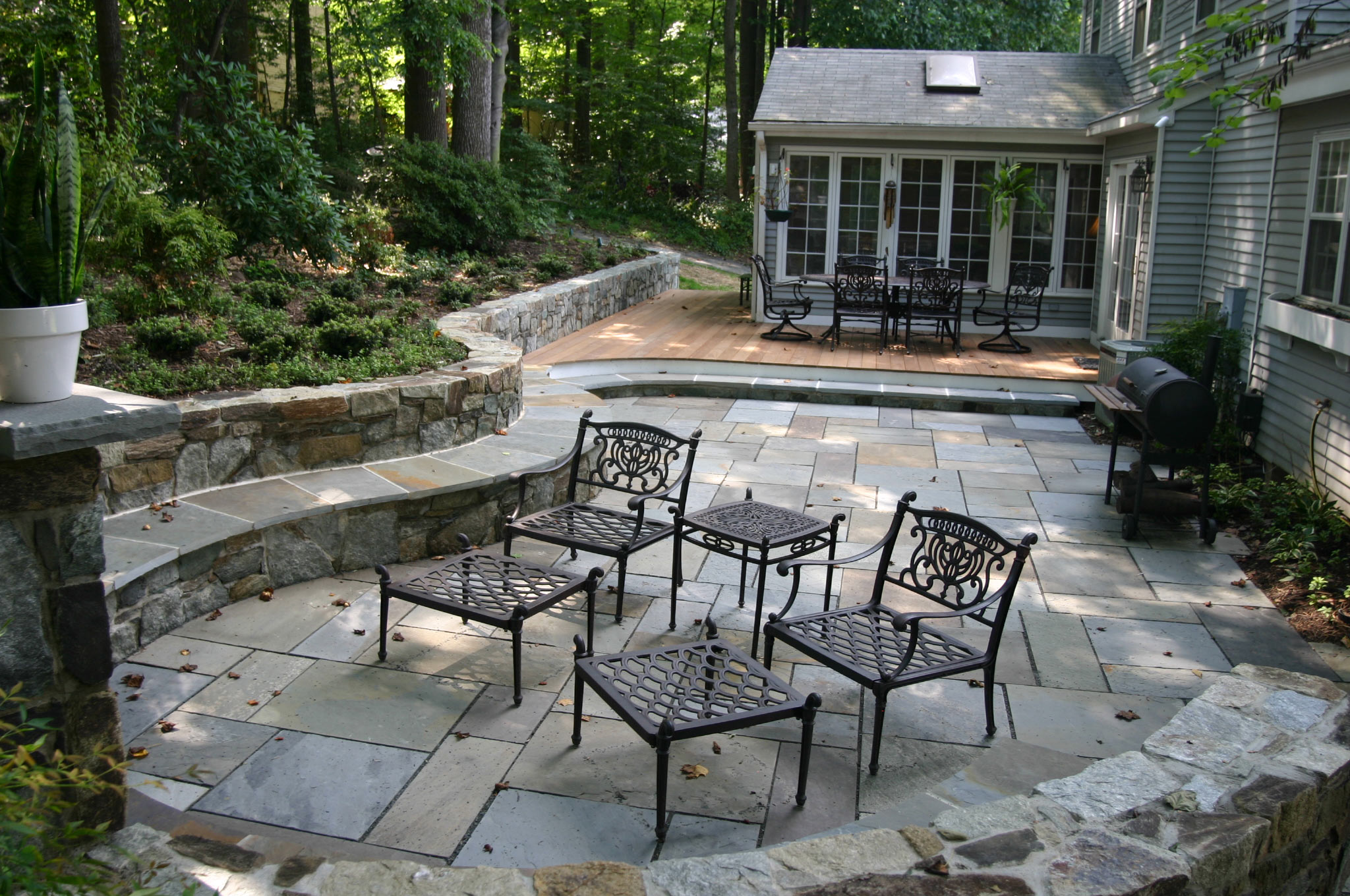 patio patios clean natural oaks ez pavers installation new block a stone slate york colonnade with flagstone ideas