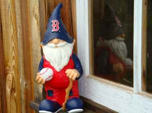 Heck, you're just jealous that YOUR yard doesn't have a gnome in a BoSox uniform!